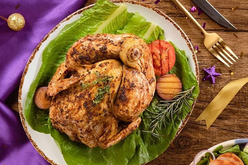 Herb Stuffed Whole Roast Chicken 1 1kg To 1 3kg Pack Buy Online Freshtohome Com