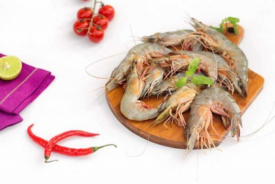 White Prawns / Indian Naaran (Large) - Whole (Not Cleaned)