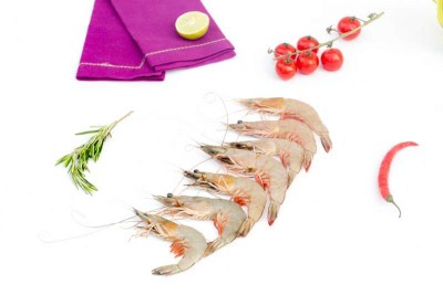 White Prawns / Indian Naaran (Medium) - Whole (Not Cleaned)