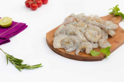 White Prawns / Indian Naaran / Jhinga  - Peeled & Undeveined (PUD) Meat