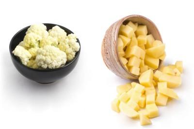 Cut Potatoes & Cauliflower Aloo Gobi Mix - 500g Pack (Ozone Washed)