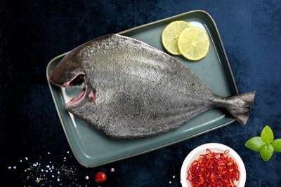 Black Pomfret / Karutha Avoli / Halwa Fish (300g to 700g) - Whole Cleaned (With Skin)