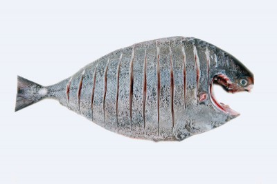 Black Pomfret / Karutha Avoli (300g to 700g) - Whole Cleaned (With Skin)