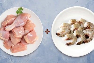 Combo Pack (250g Medium Tiger Prawns Headless + 500g Chicken Skinless Curry Cut)