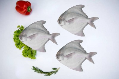 Premium Kafri / Chinese Silver Pomfret (Whole Size 300-400gm) - Whole (Uncleaned)