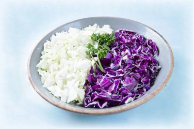 Cabbage Leafy Vegetable Mix - 500g Pack (Ozone Washed)