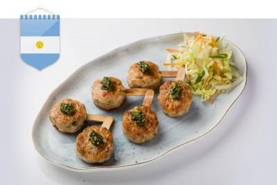 Filet De Polo Picado Con Chimichurri / Minced Mini Chicken Steak with Chimichurri Sauce (Argentina)