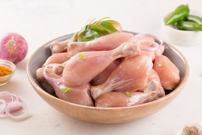 Premium Chicken Drumsticks (Free from all growth hormones and anti-biotics) - Skinless (10 to 12 pieces per Kg)
