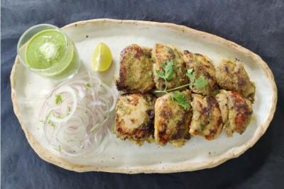 Boneless Hariyali Chicken Tikka (350g Pack)