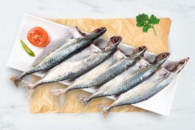 Mackerel / Ayala / Bangda / Aylai (5 to 9 Count/kg) - Whole Cleaned (includes head pieces)