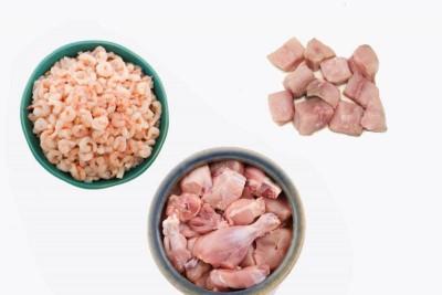 1.5kg Combo Pack (0.5kg Fresh PUD Prawns, 0.5kg Mahi Mahi Curry Cut, 0.5kg Chicken Curry Cut)