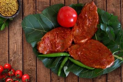 Barracuda / Cheelavu (Large) - Marinated Steaks 250g (for Tawa Fry)
