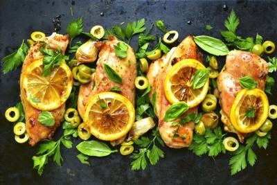 Gourmet Grilled Chicken Breast Fillet (Lemon & Herb Flavour) - Pack of 2 Fillets (300g to 350g)