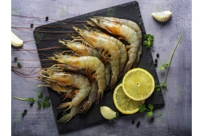 Indian Prawns / Venami / Vannamei / Jhinga / Chemmin (40+ Count/kg) - Whole (Not Cleaned, Not Peeled)