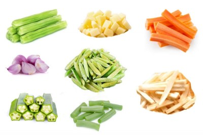 Sambar Cut Vegetables Mix - 500g Pack (Ozone Washed)