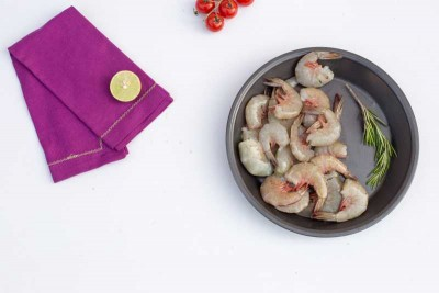 White Prawns / Indian Naaran (Medium) - Tail on