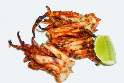 Squid / Koonthal - Marinated Tentacles 250g pack (for Tawa fry)