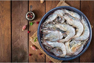 Indian Prawns / Venami / Vannamei / Jhinga / Chemmin (30+ Count/kg) - Whole (Not Cleaned, Not Peeled)