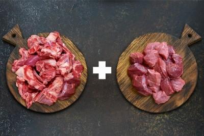 Combo Pack (500g Red Meat Boneless Curry Cut PK + 500g Red Meat Curry Cut Bone in PK )